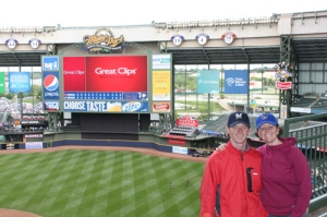 Jamie and Mary in Miller Park
