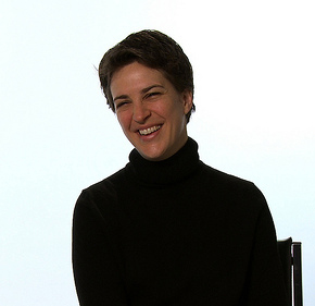 Rachel Maddow's interview for the film (photo from http://bit.ly/pZN4Zp)
