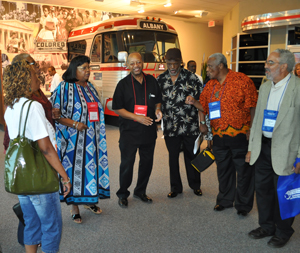 Some of the original Freedom Singers at Albany Civil Rights Institute, June 2011