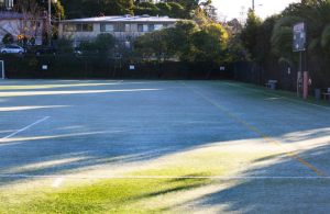 Frost on the Marin Academy field