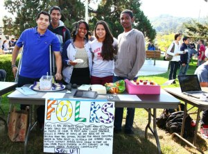 Student leaders of Folks at this year's activity fair.