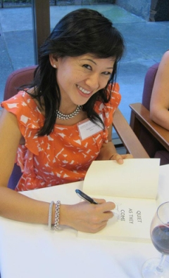Angie signing books for the Sonoma County Public Library Foundation fundraiser