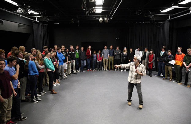 David Sinaiko leading a session in the Black Box