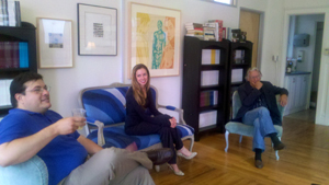 Discussion in the ZYZZYVA offices