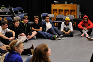 LItFest in the black box theater