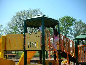 A more conventional contemporary playground